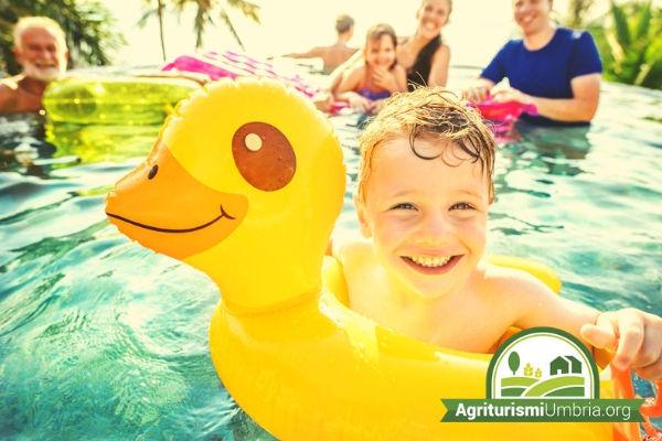 agriturismo Umbria con piscina per bambini