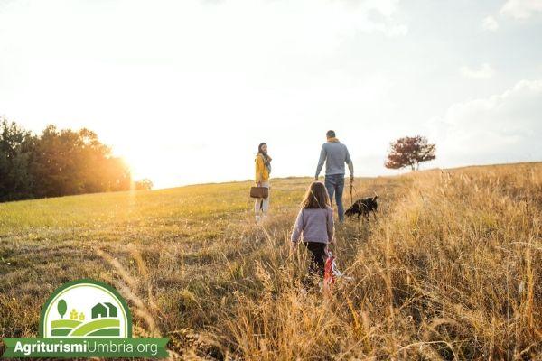 bambini alla scoperta della natura - agriturismi Umbria